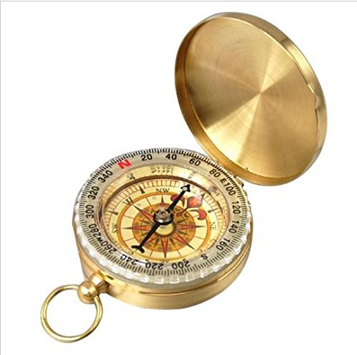 Jcare Clic Metal Br Pocket Watch Style Camping Portable Golden Comp Outdoor Tool Hiking
